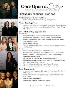 legendary Sponsor - $100,000