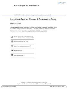 Legg-Calvé-Perthes Disease: A Comparative Study