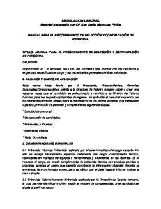 LEGISLACION LABORAL Material preparado por CP Ana Stella Mendoza Pinilla