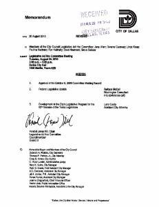 Legislative Ad Hoc Committee Meeting Record