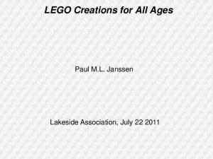LEGO Creations for All Ages