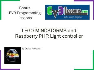 LEGO MINDSTORMS and Raspberry Pi IR Light controller