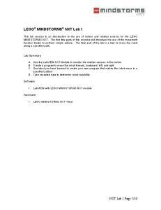 LEGO MINDSTORMS NXT Lab 1