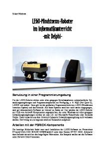 LEGO-Mindstorms-Roboter im Informatikunterricht -mit Delphi-