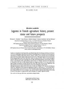 Legumes in Finnish agriculture: history, present status and future prospects