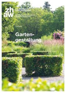 Lehrgang. Gartengestaltung. Zürcher Fachhochschule