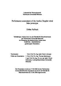 Lehrstuhl für Thermodynamik Technische Universität München. Ulrike Paffrath
