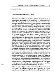 Leibniz und die orthodoxe Kirche