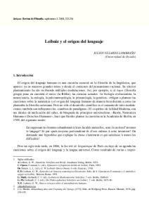 Leibniz y el origen del lenguaje 1