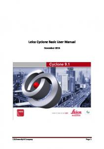 Leica Cyclone Basic User Manual December 2016