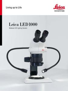 Leica LED1000 Modular LED Lighting System