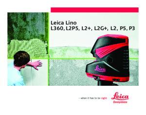 Leica Lino L360, L2P5, L2+, L2G+, L2, P5, P3