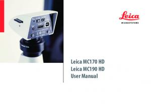 Leica MC170 HD Leica MC190 HD User Manual