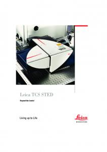 Leica TCS STED. Beyond the Limits!