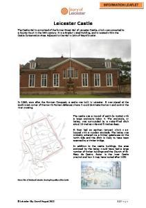 Leicester Castle INFORMATION LEAFLET