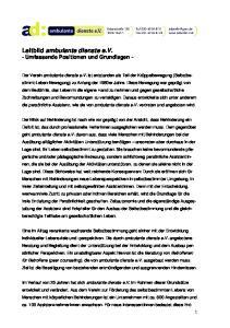 Leitbild ambulante dienste e.v. - Umfassende Positionen und Grundlagen -