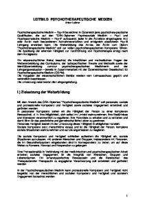 LEITBILD PSYCHOTHERAPEUTISCHE MEDIZIN Anton Leitner