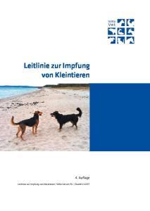 Leitlinie zur Impfung von Kleintieren