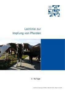 Leitlinie zur Impfung von Pferden