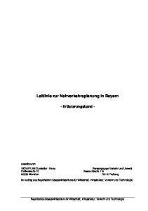Leitlinie zur Nahverkehrsplanung in Bayern