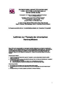 Leitlinien zur Therapie der chronischen Herzinsuffizienz