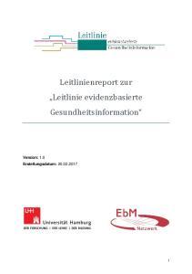 Leitlinienreport zur Leitlinie evidenzbasierte Gesundheitsinformation