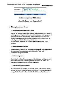 Leitlinienreport zur S3-Leitlinie Kondylushypo- und -hyperplasie