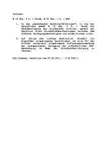 Leitsatz. 16 Abs. 2 S. 1 VermG, 22 Abs. 1 S. 1 GBO