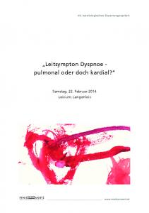 Leitsympton Dyspnoe pulmonal oder doch kardial?