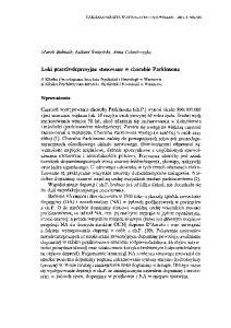 Leki przeciwdepresyjne stosowane w chorobie Parkinsona