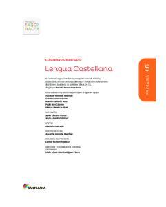 Lengua Castellana PRIMARIA CUADERNO DE ESTUDIO