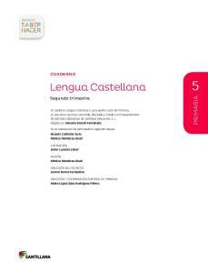 Lengua Castellana PRIMARIA. Cuaderno. Segundo trimestre