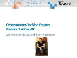 Leonardo de Moura and Grant Passmore