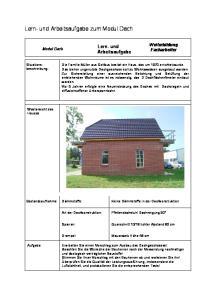 Lern- und Arbeitsaufgabe zum Modul Dach