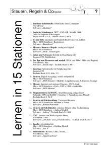 Lernen in 15 Stationen