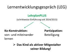 Lernentwicklungsgespräch (LEG)