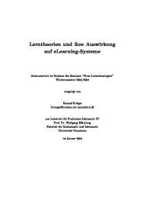 Lerntheorien und ihre Auswirkung auf elearning-systeme