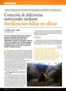 Lertifizacion foliar Ln olivar