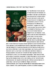 Leseprobe aus Die Herrin der Burg Kapitel 1
