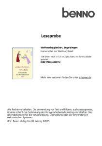 Leseprobe. Weihnachtsglocken, Engelsingen Humorvolles zur Weihnachtszeit. Mehr Informationen finden Sie unter st-benno.de
