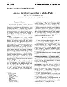 Lesiones del plexo braquial en el adulto. Parte 1