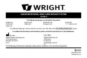 LESSER METATARSAL HEAD (LMH) IMPLANT SYSTEM