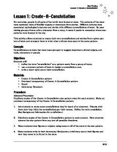 Lesson 1: Create-A-Constellation