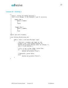Lesson 14 - Activity 1