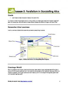Lesson 2: Parallelism in Storytelling Alice
