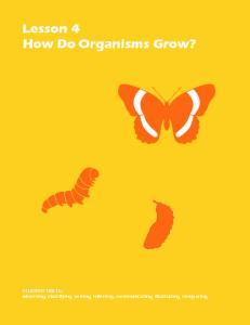 Lesson 4 How Do Organisms Grow?
