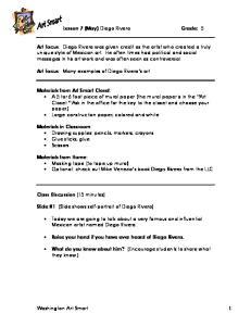 Lesson 7 (May) Diego Rivera Grade: 5