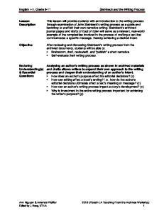 Lesson Description. Enduring Understanding(s) & Essential Questions