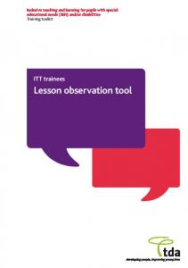 Lesson observation tool