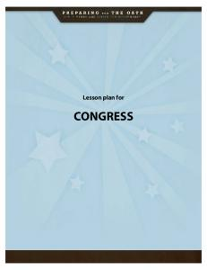Lesson plan for CONGRESS
